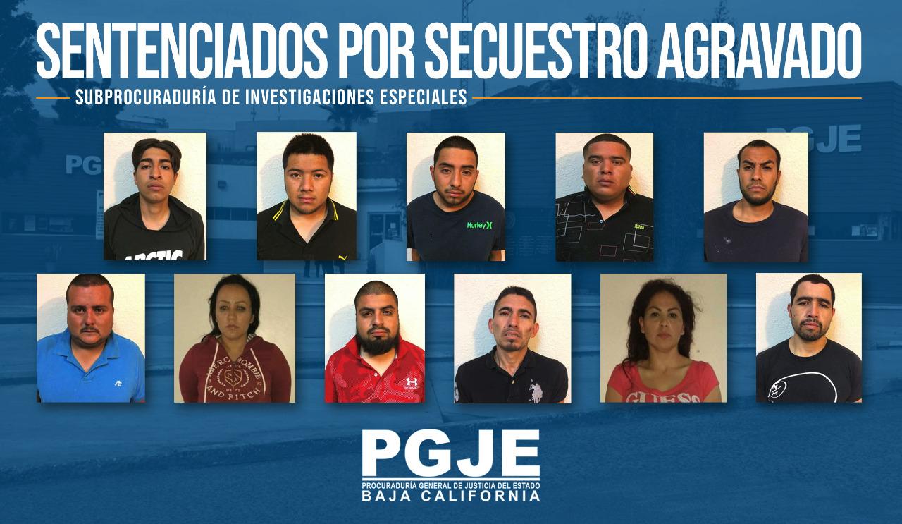 Suman 770 años sentencias de 11 secuestradores