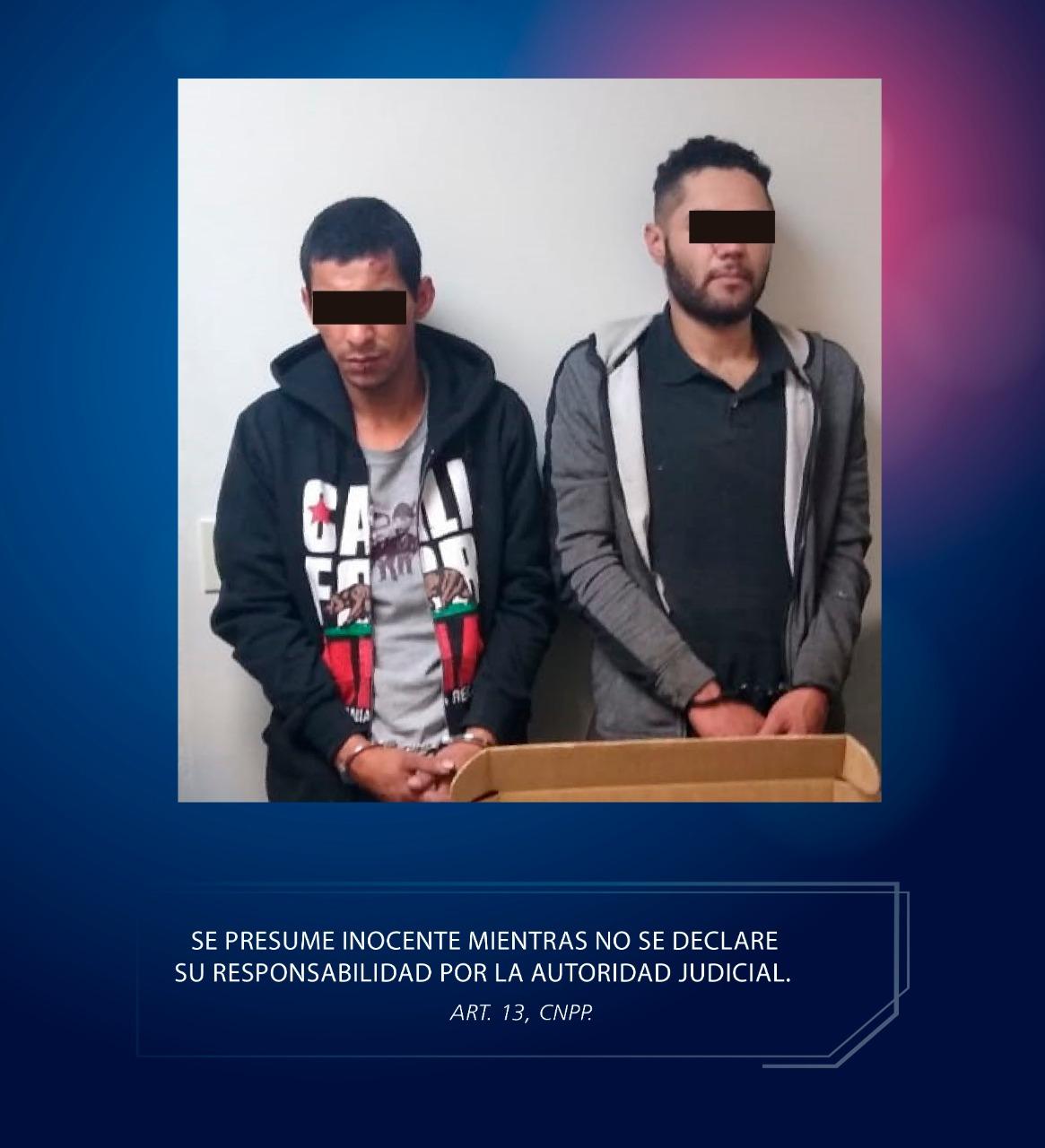 Tras persecución detienen a dos asaltantes