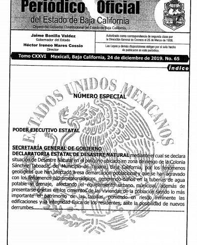 Declaran zona de Desastre Natural polígono en la Sánchez Taboada
