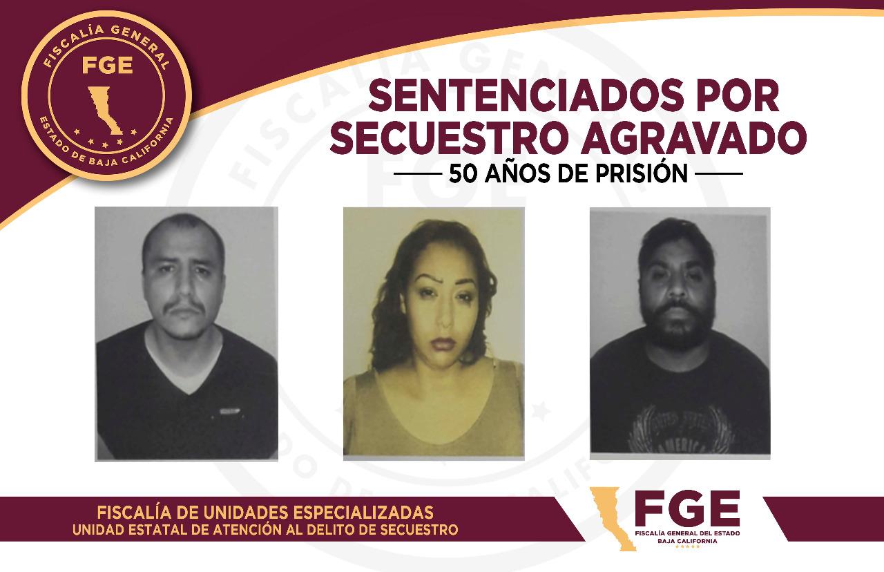 Sentencian a 50 años de cárcel a 3 secuestradores