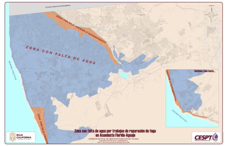 Habrá faltas de aguas en más de 600 colonias por cierre del Acueducto Florido – Aguaje