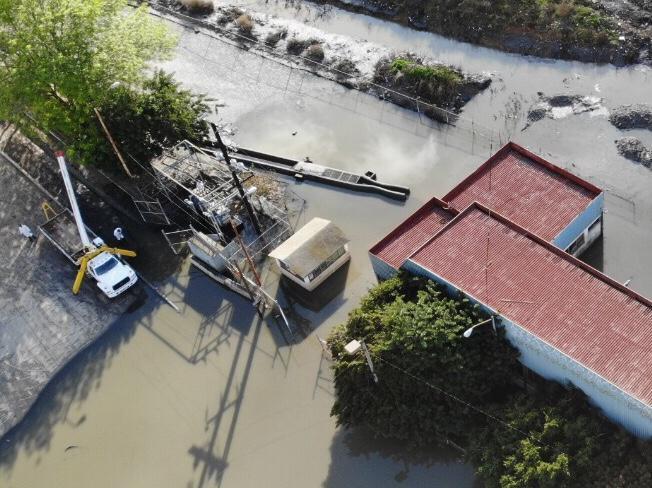 Inician rehabilitación de Planta de Bombeo 3 afectada por inundación en Cañón del Matadero