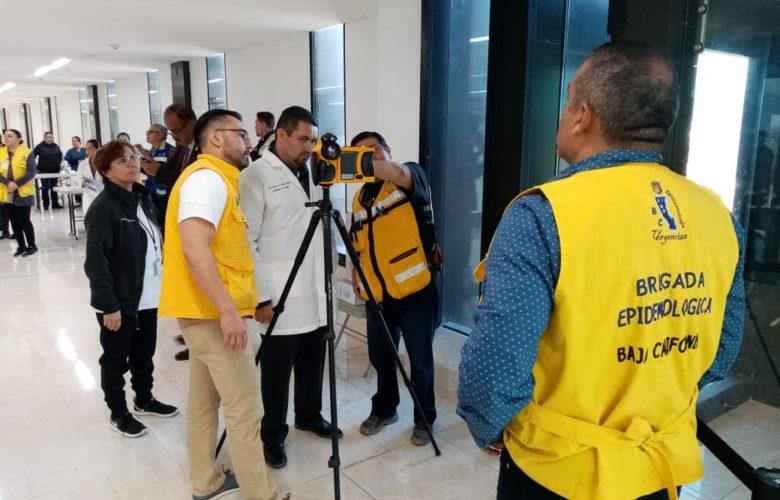 Aplican Protocolo de Atención Sanitaria en Aeropuerto de Tijuana por Coronavirus