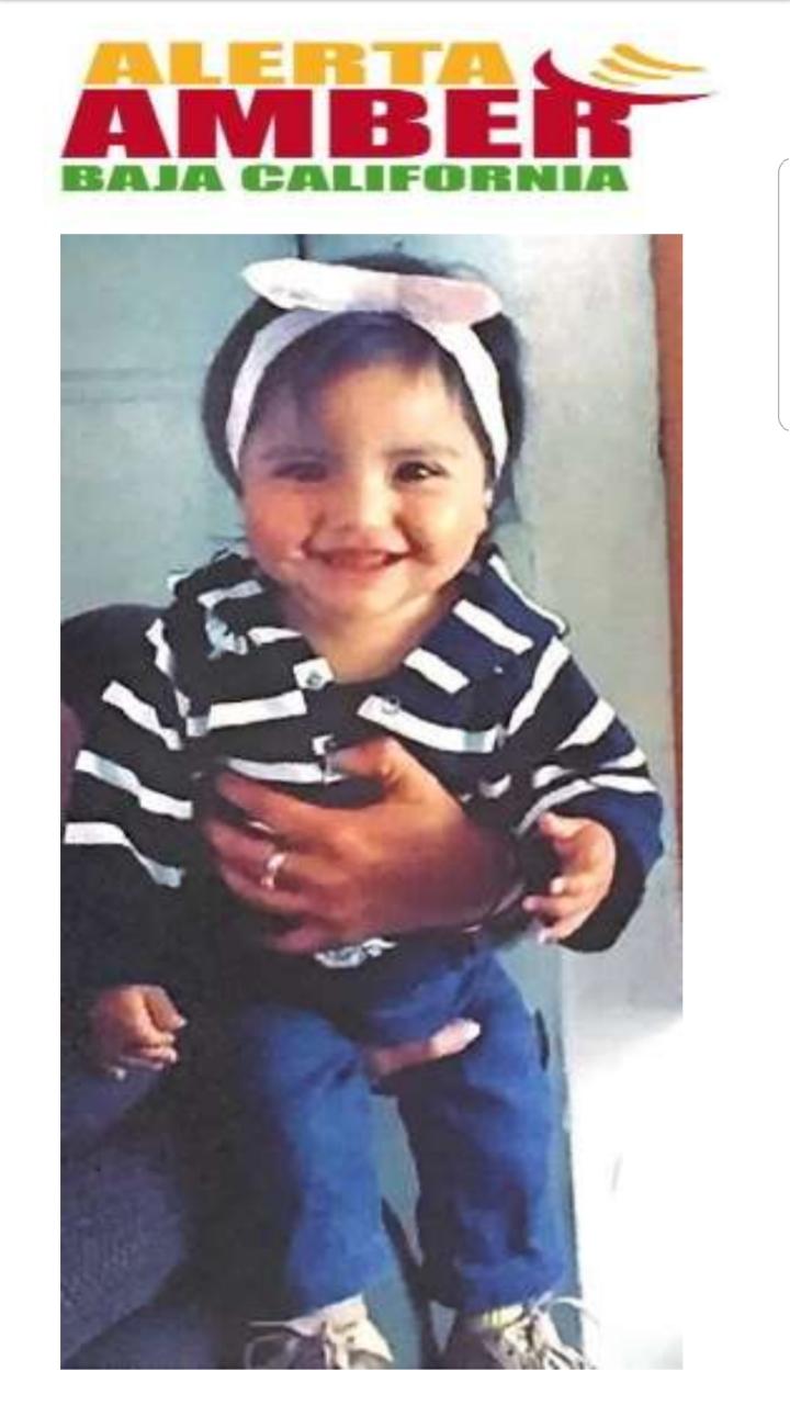 Activan Alerta Amber por desaparición de niña de un año