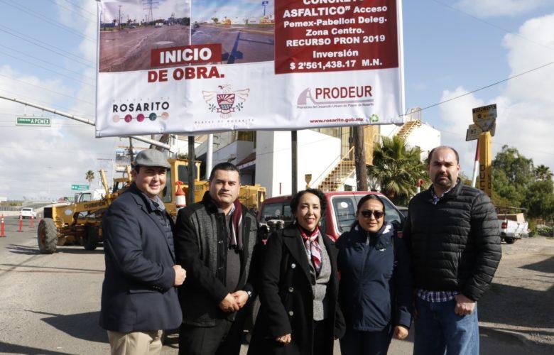 Inicia repavimentación en crucero camino a PEMEX y Benito Juárez