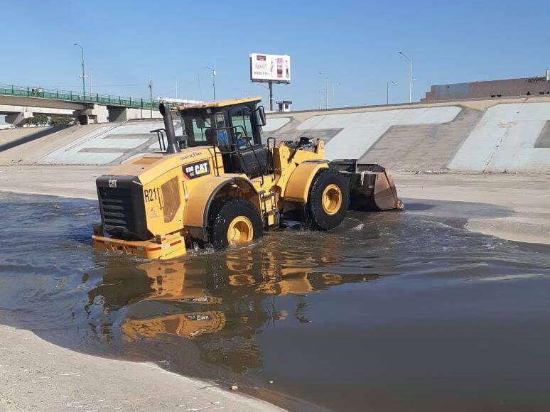 CESPT retira azolve de la Canalización del Río Tijuana y concluye limpieza de planta de bombeo