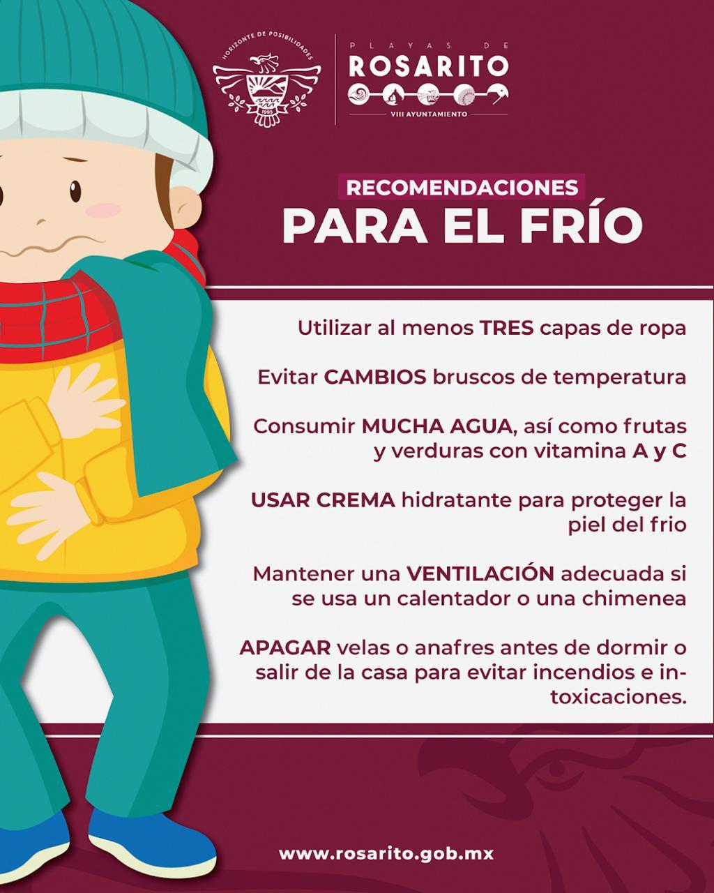 Emiten recomendaciones ante bajas temperaturas en Rosarito