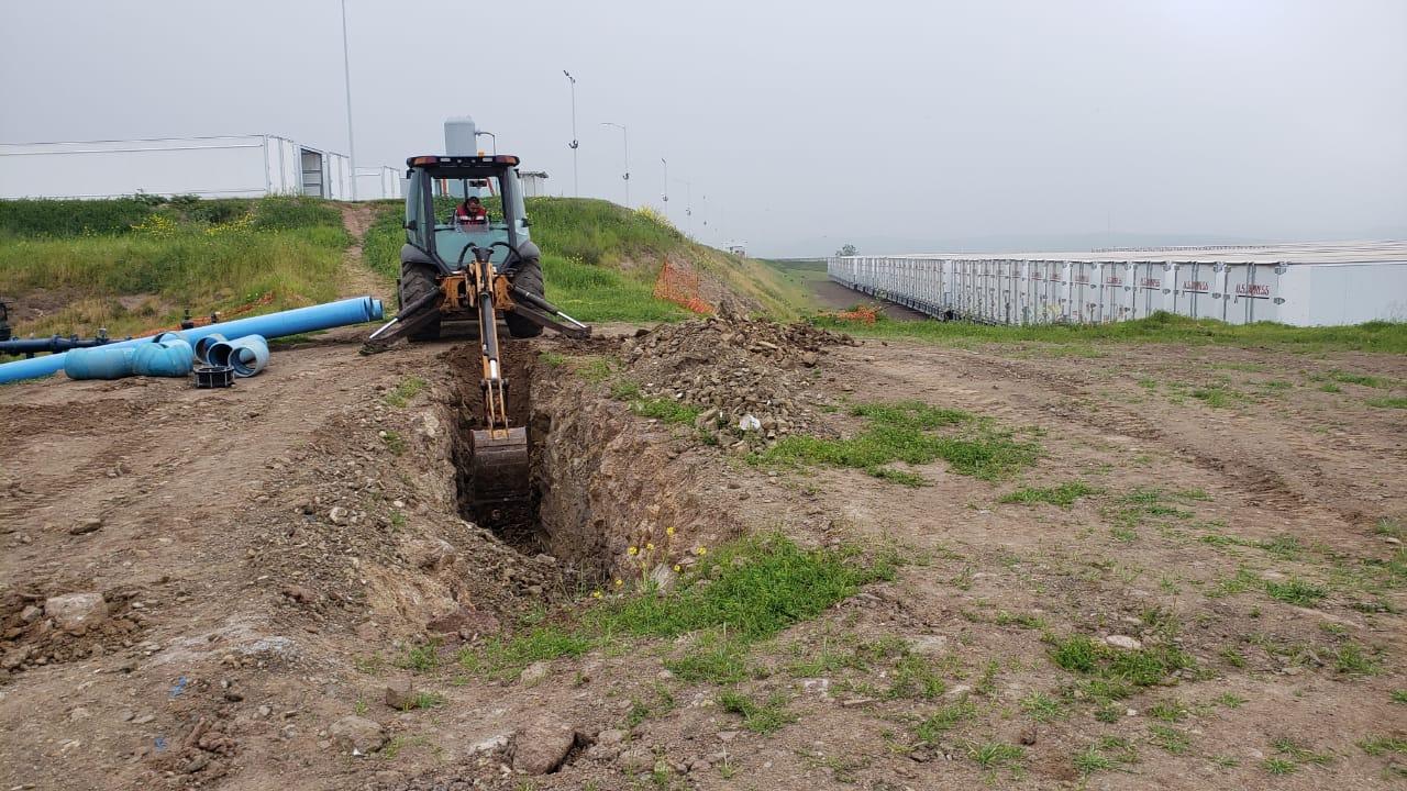 Inicia instalación de línea de impulsión de aguas residuales