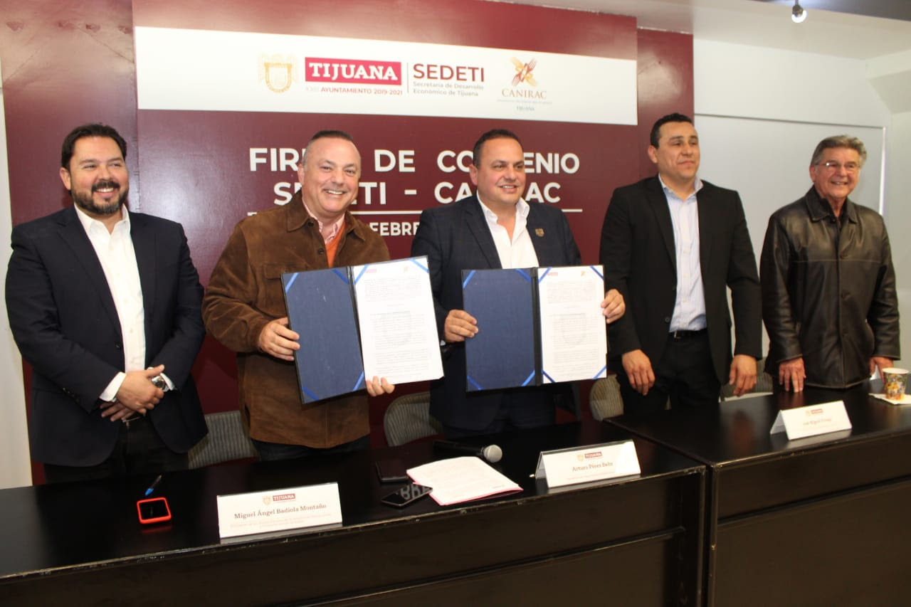 Acuerdan colaboración Sedeti y Canirac en beneficio de la industria restaurantera