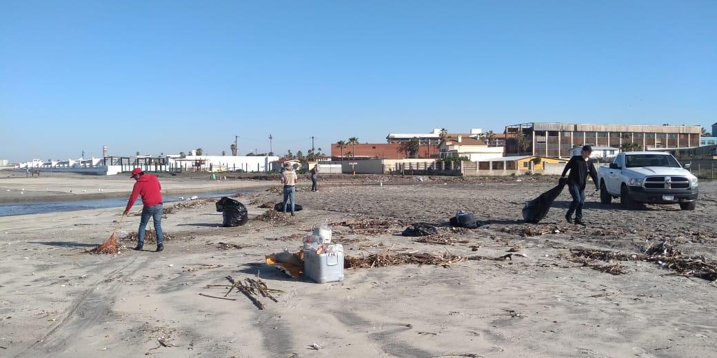 Realiza ZOFEMAT limpieza de playas tras lluvias