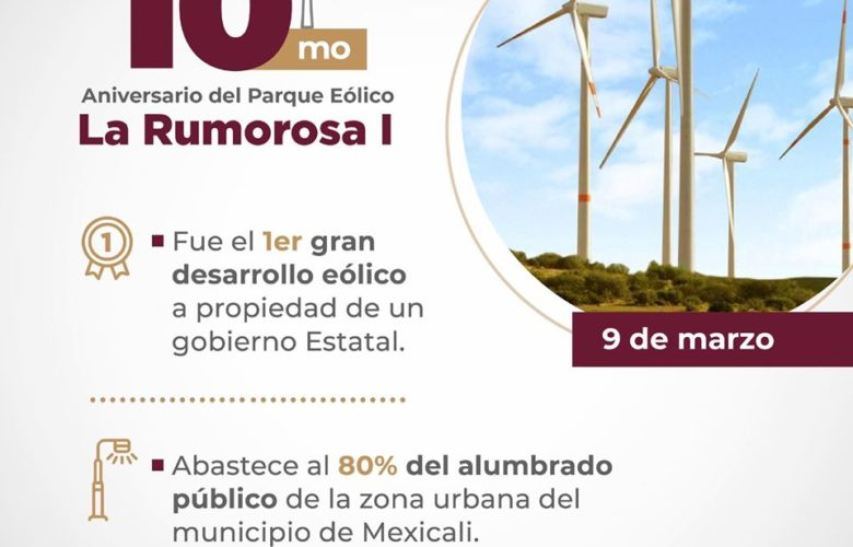 "Parque Eólico ""La Rumorosa I"" celebra su 10 Aniversario"