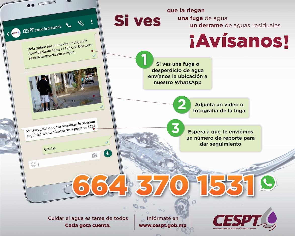 Atenderá CESPT a más de 150 mil usuarios por WhatsApp