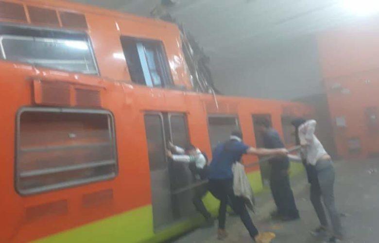 Un tren que se echó en reversa habría provocado accidente en el Metro