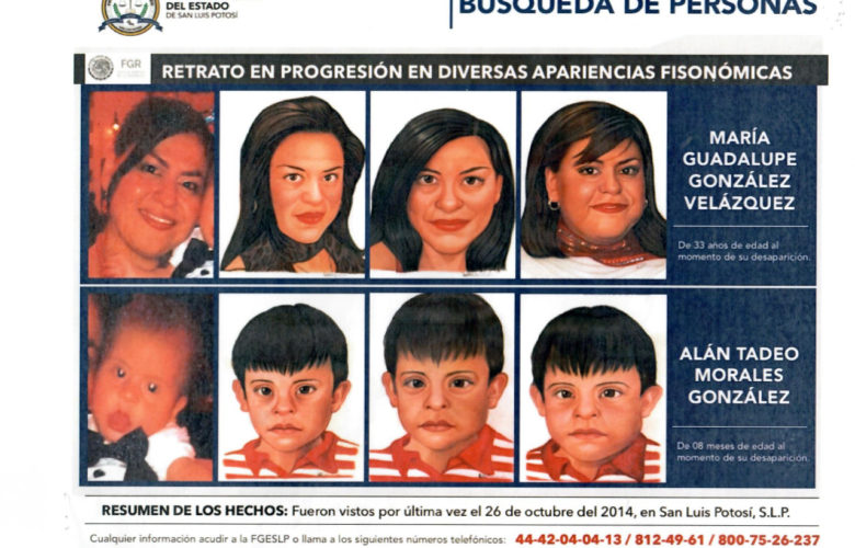 Solicitan apoyo para localizar a mujer y niño desaparecidos en 2014 en San Luis Potosí