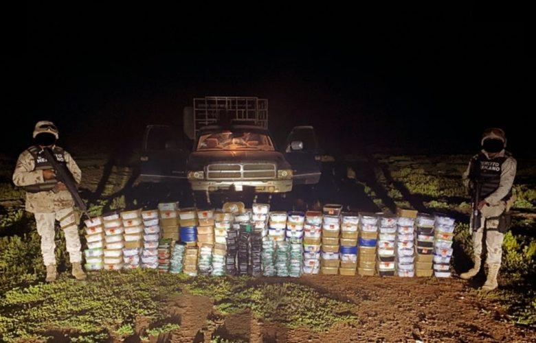 Decomisan cargamento de droga con un valor de más de 170 MDP