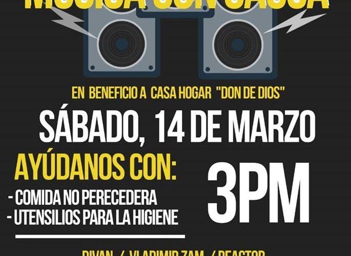 """Invita IMAC a contribuir con comida y artículos de higiene en evento """"Música con Causa"""""""