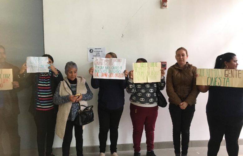 Protestan por destitución del delegado de Otay Centenario