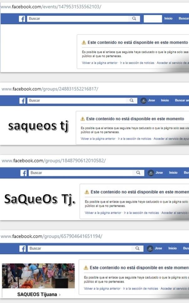 Desactivan convocatoria en redes sociales de saqueos en Tijuana