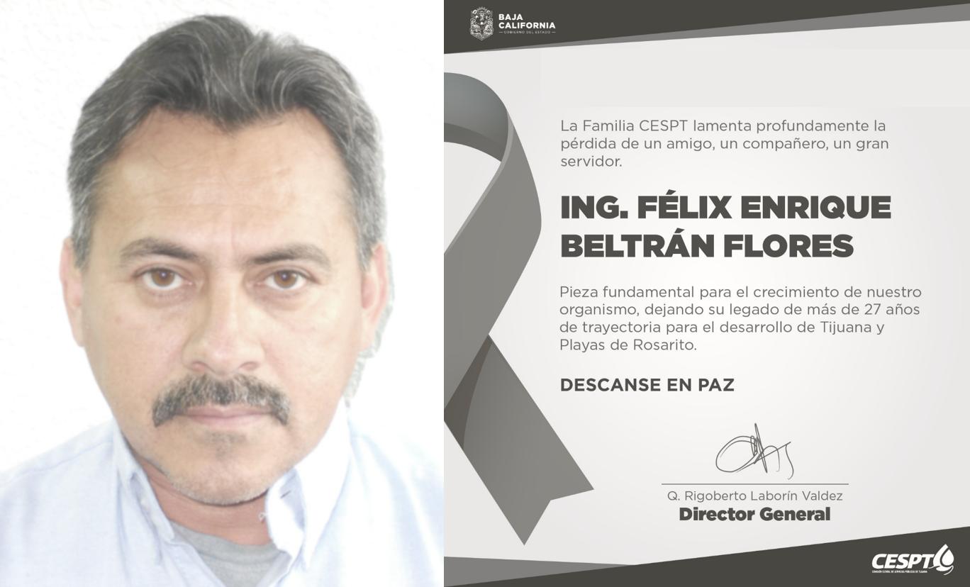 Informa CESPT del fallecimiento de Jefe De Distrito