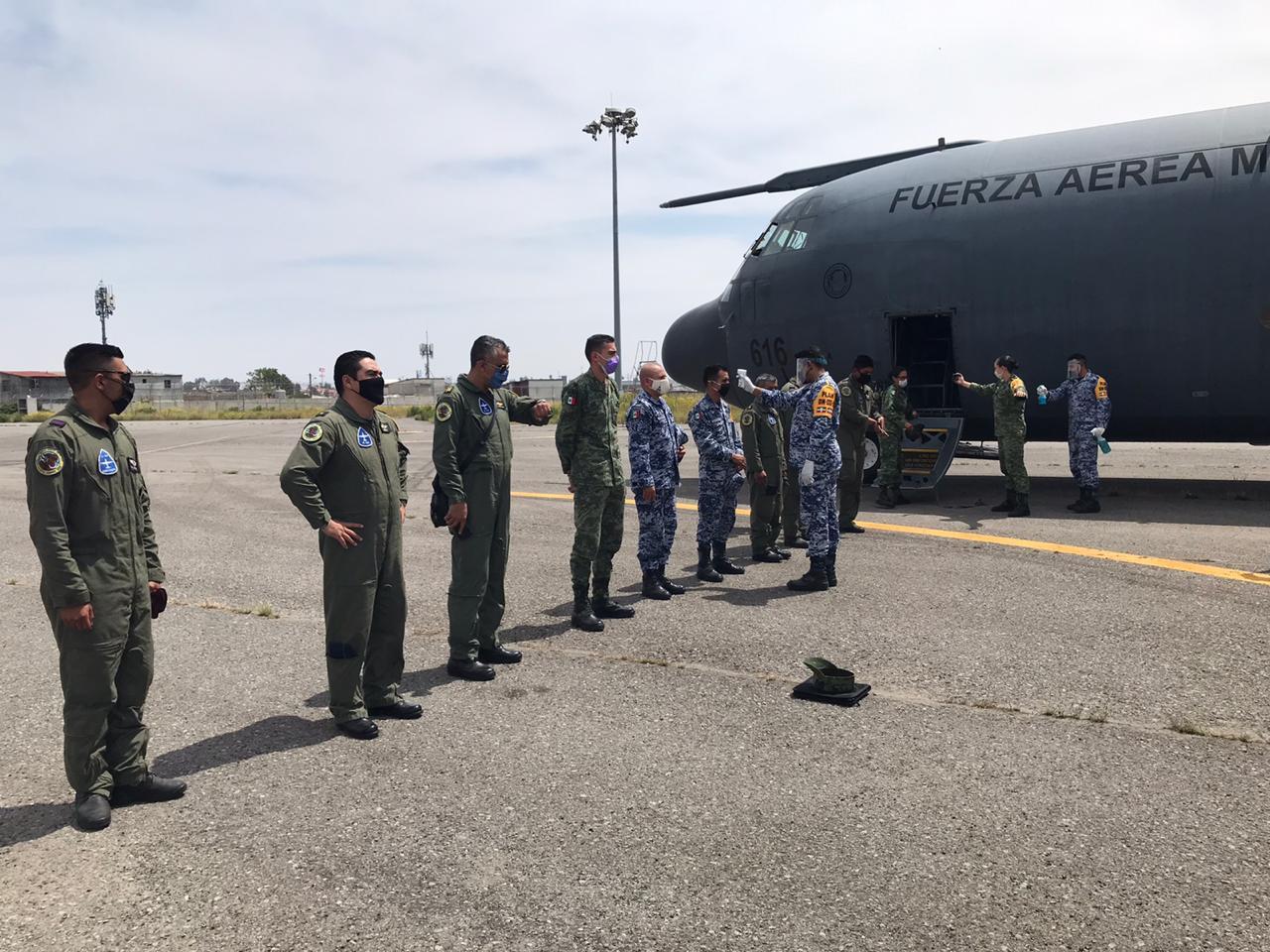 Llegan aeronaves militares con 21 toneladas de insumos médicos