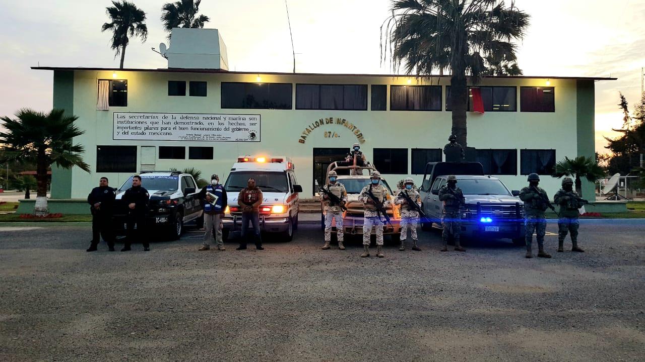 Apoyan militares en patrullajes por COVID 19