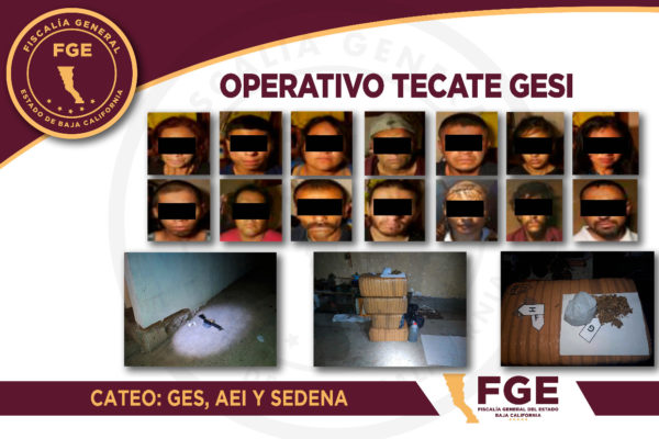 Desmantelan célula criminal del CJNG en Tecate