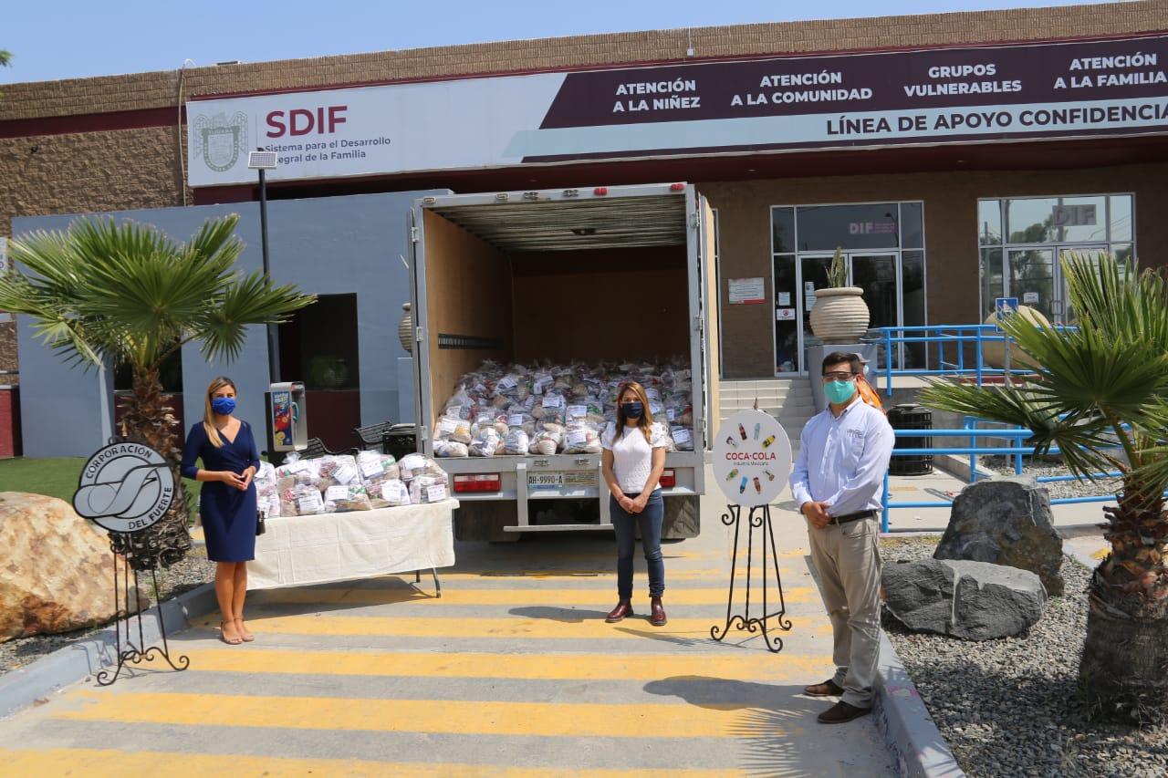 Compañía Embotelladora Del Fuerte entrega  4 mil despensas al  Sistema DIF Tijuana