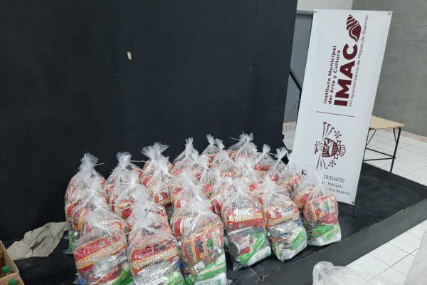 Prepara IMAC entrega de despensas para comunidad artística de Rosarito