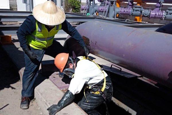 Trabajadores de CESPT concluyen limpieza de cárcamo y reanuda operaciones