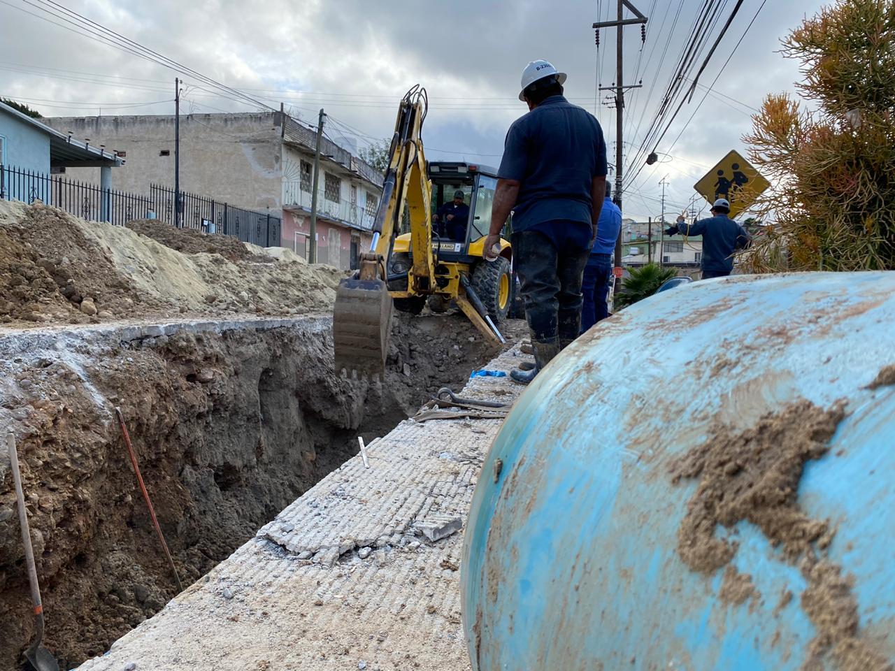 Concluye CESPT reposición de tubería en colonia Juárez