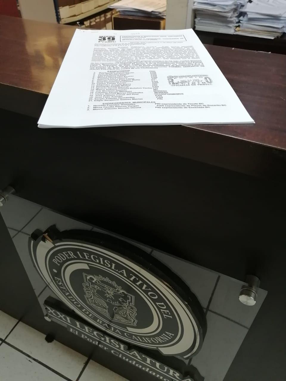 Demandan Juicio Político contra exdiputados y exalcaldes por aprobar la ampliación de mandato