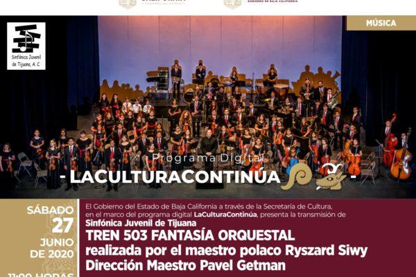 La Sinfónica Juvenil de Tijuana ofrecerá una serie de conciertos en el programa digital la Cultura Continúa