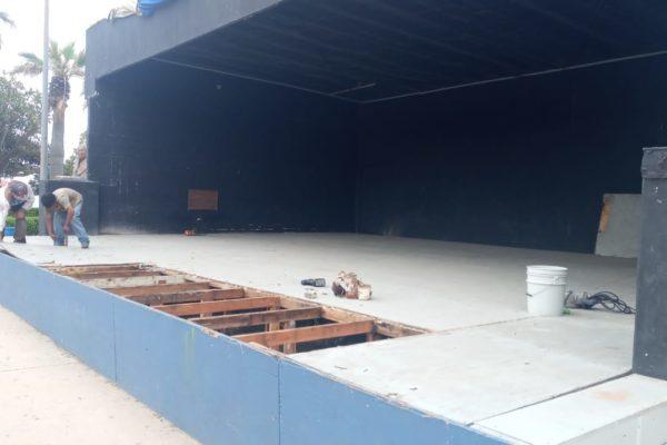"""Realiza IMAC mantenimiento en área de espectáculos del parque """"Abelardo L. Rodríguez"""""""