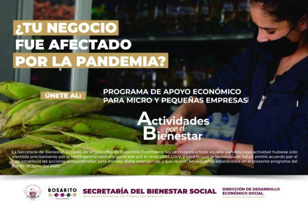 Convoca Gobierno de Playas de Rosarito a Programa de Apoyo Económico para Micro y Pequeñas Empresas