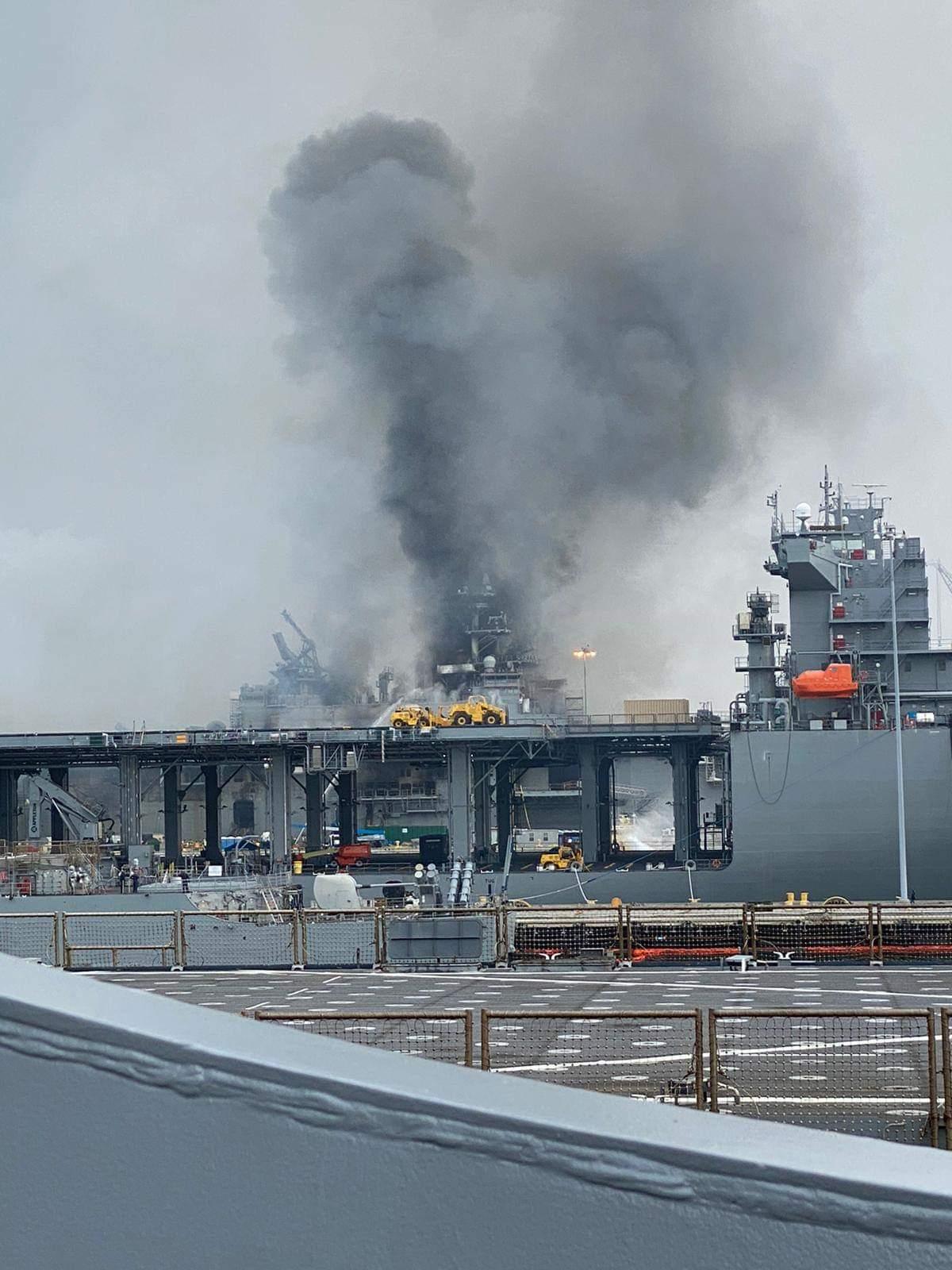 Evacúan a trabajadores de la Base Naval de San Diego