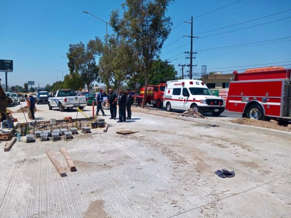Informa la CESPT que están fuera de peligro trabajadores accidentados en obra del Colector Poniente-Benítez