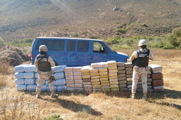 Localizan cargamento de marihuana abandonado con un valor superior a los 5.5 MDP