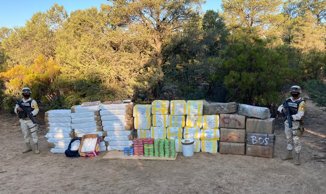 Localizan cargamento de droga con un valor superior a los 300 MDP