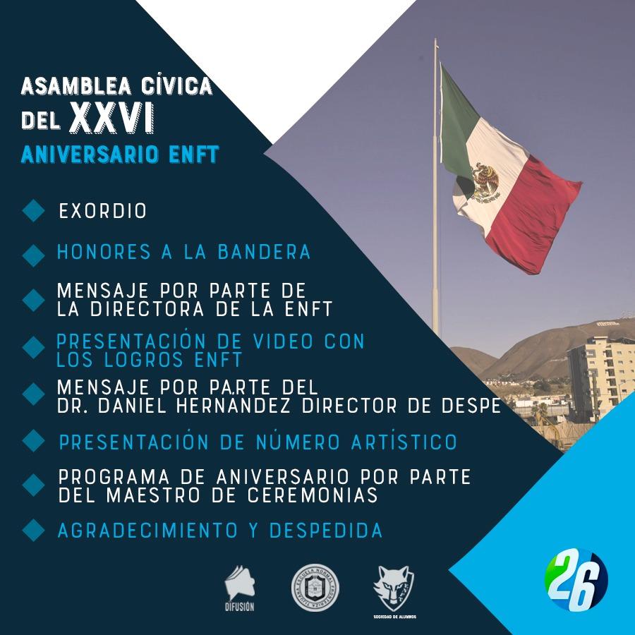 Festejos del 26 Aniversario de la Escuela Normal Fronteriza Tijuana