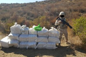 Localizan cargamento de droga abandonado en pista clandestina