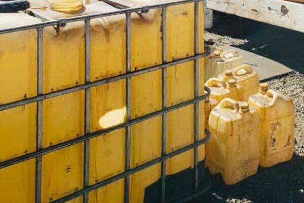 En cateo aseguran más de dos mil 400 litros de hidrocarburo