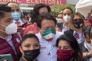 MONTSERRAT CABALLERO DIPUTADA COORDINADORA DE LA FRACCIÓN DE MORENA EN EL CONGRESO DE BC, FELICITA AL NUEVO DIRIGENTE DE ESE PARTIDO, MARIO DELGADO
