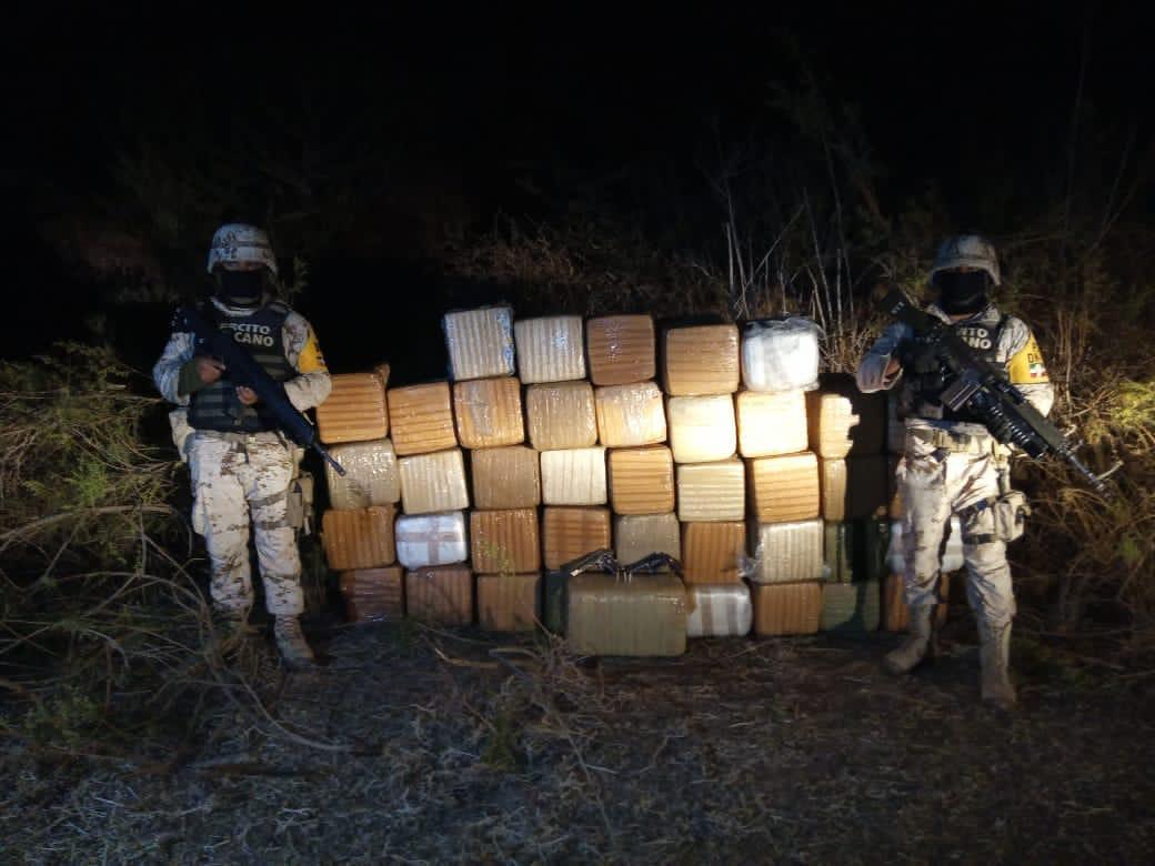 Localizan cargamento de droga valuado en más de 700 mil pesos