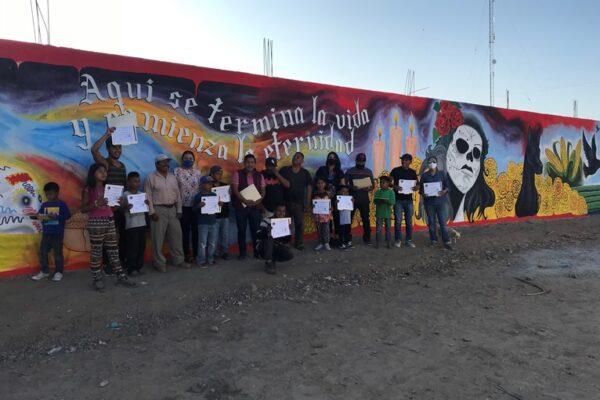 Comunidad Triqui de San Quintín realiza mural Las Misiones