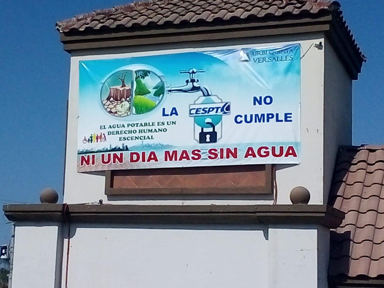"""""""Ni un día más sin agua"""" exigen vecinos en Santa Fe"""