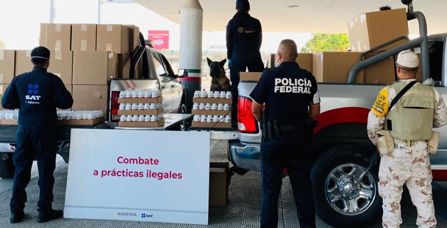 Decomisa Aduana de Tijuana 5 mil 500 frascos de gomitas con cannabis