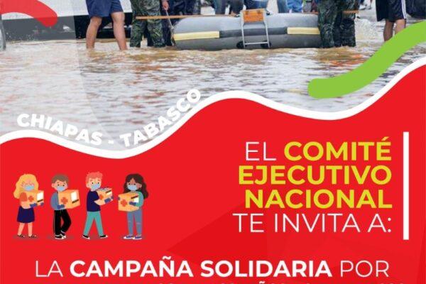 PRI NACIONAL Y COMITÉS ESTALES SE CONVIERTEN EN CENTROS  DE ACOPIO PARA AYUDAR A FAMILIAS DE TABASCO Y CHIAPAS