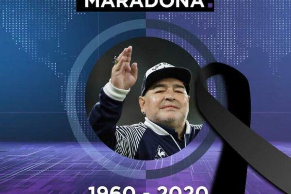 Murió el astro del fútbol Maradona