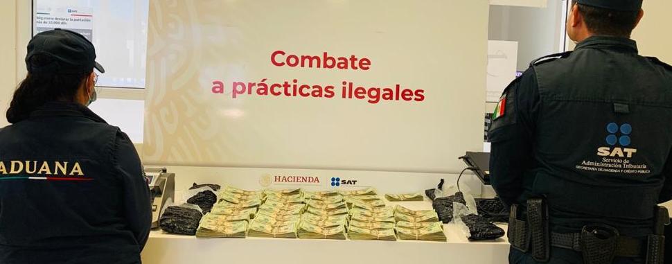 Aduana de Tijuana decomisa cartuchos y más de 1/4 de millón de dólares