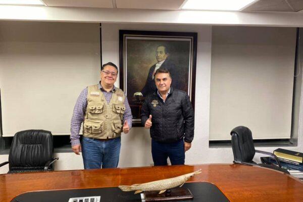 Sostiene encuentro Ruiz Uribe con el Coordinador Nacional de Programas Sociales Gabriel García